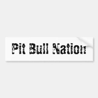 Pitbull-Nation Autoaufkleber