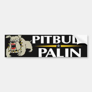 Pitbull Palin Autoaufkleber