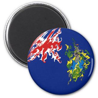 Pitcairn-Insel-Gnarly Flagge Kühlschrankmagnete