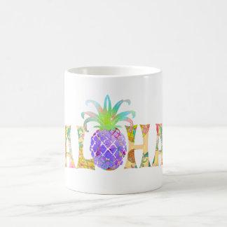 PixDezines Aloha Ananas+BlumenAquarell Tasse