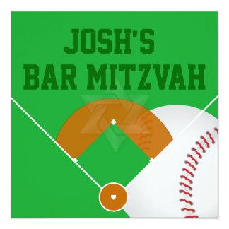 PixDezines ✡ Baseball-Diamant-Bar Mitzvah Karte