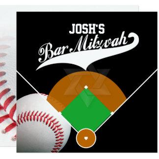 PixDezines ✡ Baseball-Diamant-Bar Mitzvah Quadratische 13,3 Cm Einladungskarte
