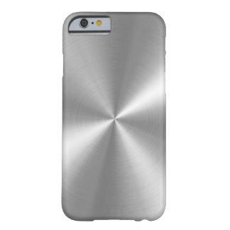 PixDezines Imitat gebürstetes Aluminium Barely There iPhone 6 Hülle