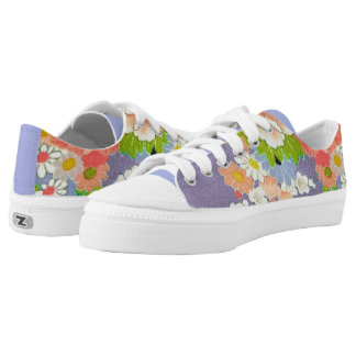 PixDezines Kimono/Pfingstrosen/Kirschblüten Niedrig-geschnittene Sneaker