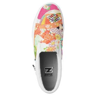 PixDezines Kimono/Pfingstrosen/Kirschblüten Slip-On Sneaker