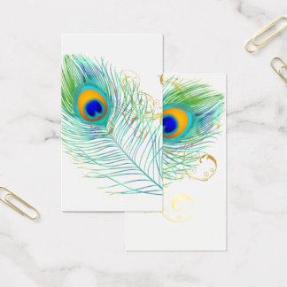 PixDezines PFAU-FEDER+FILIGREE/DIY bckgrnd Visitenkarte