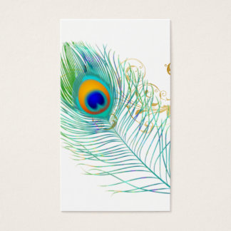 PixDezines PFAU-FEDER+FILIGREE/DIY bckgrnd Visitenkarten