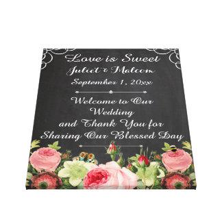PixDezines Tafel/Roses/DIY Hochzeits-Empfang Gespannte Galerie Drucke
