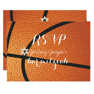 PixDezines UAWG Basketball-Bar Mitzvah ✡ 8,9 X 12,7 Cm Einladungskarte