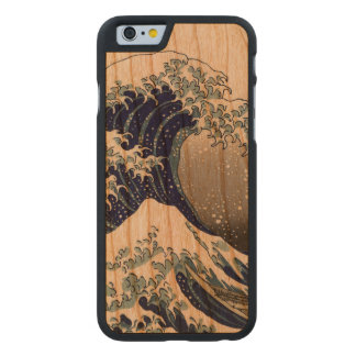 PixDezines Vintag, große Welle, Hokusai 葛飾北斎の神奈川沖浪 Carved® iPhone 6 Hülle Kirsche