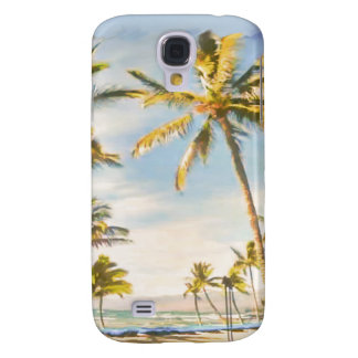 PixDezines Vintager hawaiischer Strand/breezy Blau Galaxy S4 Hülle