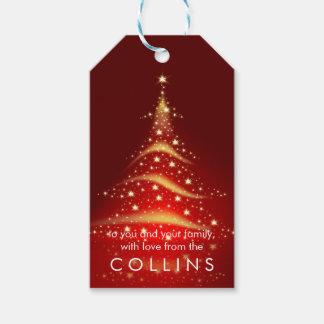 PixDezines Weihnachtsbaum/Imitat-Gold Geschenkanhänger