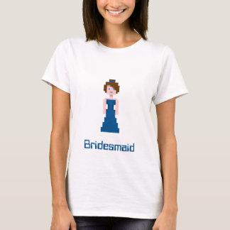 Pixel-Brautjungfer - Marine T-Shirt