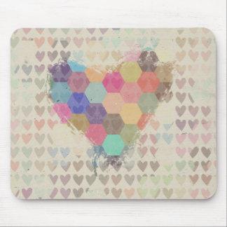 Pixel-Digital-Regenbogen-Herz Mousepads