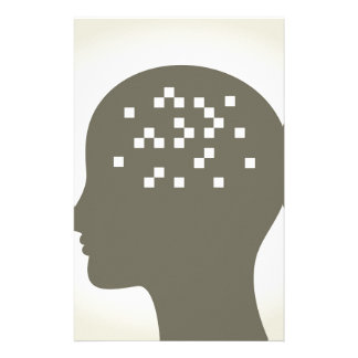 Pixel in einem Kopf Druckpapiere