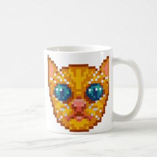 Pixel-Kunst Kätzchen Tasse