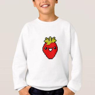 Pixel-Kunst-niedliche Erdbeere Sweatshirt