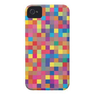 Pixel-Regenbogen-Quadrat-Muster iPhone 4 Hülle