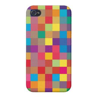 Pixel-Regenbogen-Quadrat-Muster Schutzhülle Fürs iPhone 4