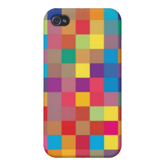 Pixel-Regenbogen-Quadrat Pern iPhone 4/4S Cover