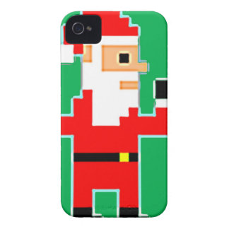 Pixel Weihnachtsmann Case-Mate iPhone 4 Hülle