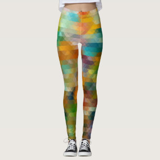 Pixelated gemusterte Gamaschen Mehrfarben Leggings
