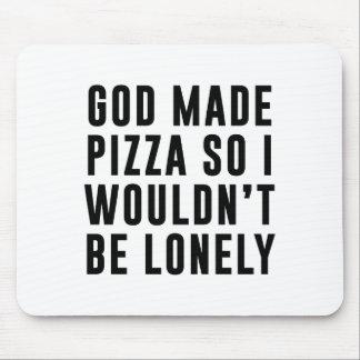 Pizza einsam mousepads