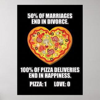 Pizza gegen Liebe Poster