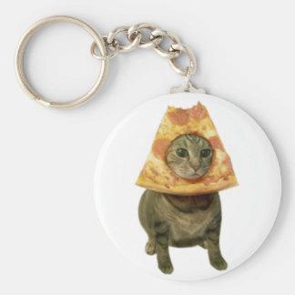 Pizza-Katzen-Entwurf Schlüsselanhänger