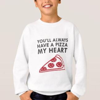 Pizza mein Herz Sweatshirt