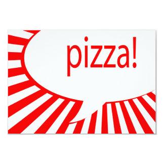 Pizza-Party 8,9 X 12,7 Cm Einladungskarte