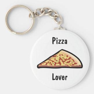Pizza-Scheibe Standard Runder Schlüsselanhänger