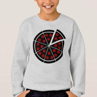 Pizza-Torte - dunkle Schablone Sweatshirt