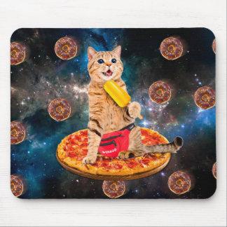 Pizzakatze - Raumkatze - orange Katze - Mauspads