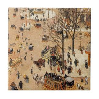 Place du Theatre Francais durch Camille Pissarro Keramikfliese