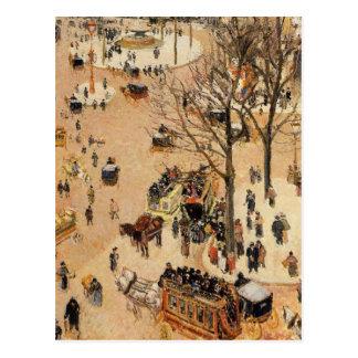 Place du Theatre Francais durch Camille Pissarro Postkarte