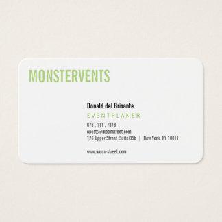 Plain Event Planer Visitenkarten