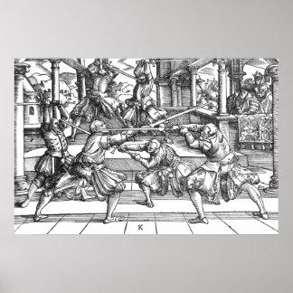 Plakat 1570 Meyers Longsword
