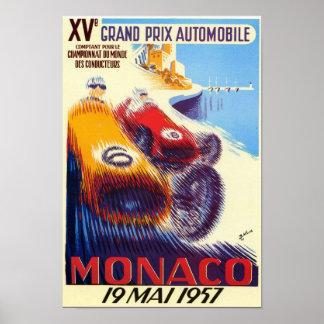 Plakat 1957 Monacos Grandprix