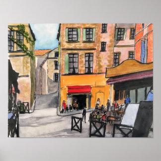 Plakat Café-Provence Frankreich