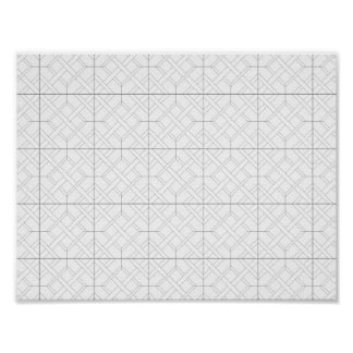 Plakat - Diamant-Muster zur Farbe