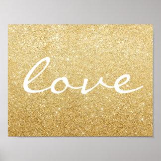 Plakat - Glitter-Liebe