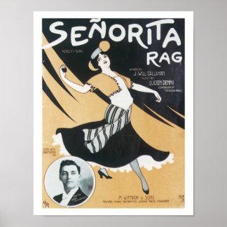 Plakat Liedsenorita-Rag Vintage Music Art