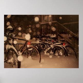 Plakat mit einem schönen Winterbild