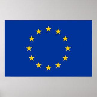 Plakat mit Flagge der europäischen Gewerkschaft