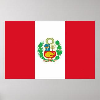 Plakat mit Flagge von Peru