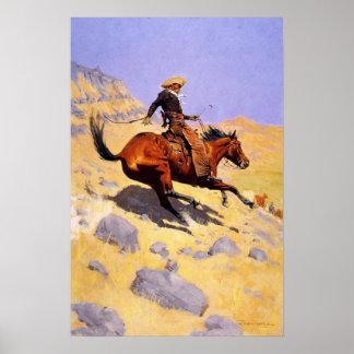 Plakat mit Malerei Frederic Remington