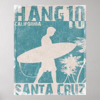Plakat mit Santa- CruzSurfer-Druck