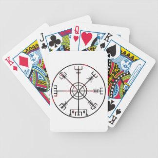 Plakat Wikinger-Kompassses s6 Bicycle Spielkarten