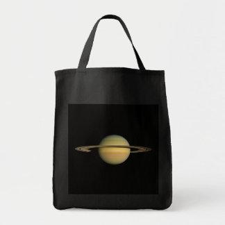 PLANET SATURN WÄHREND ÄQUINOKTIKUM (Sonnensystem) Einkaufstasche